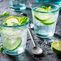 Flavour Nation lime flavouring in soda water